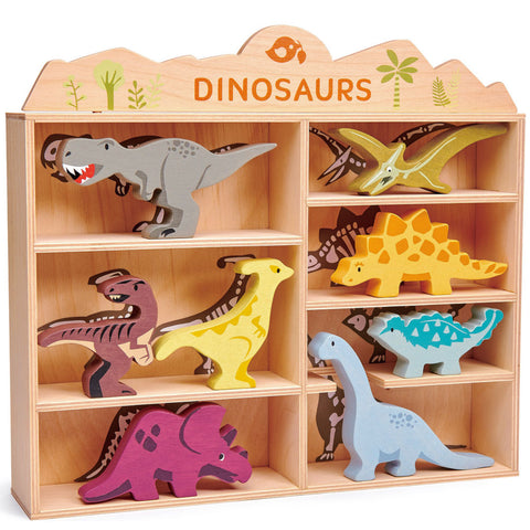 Tender Leaf Toys Dinosaurs Set with Shelf