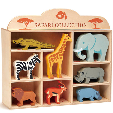 Tender Leaf Toys Safari Animal Set with Shelf