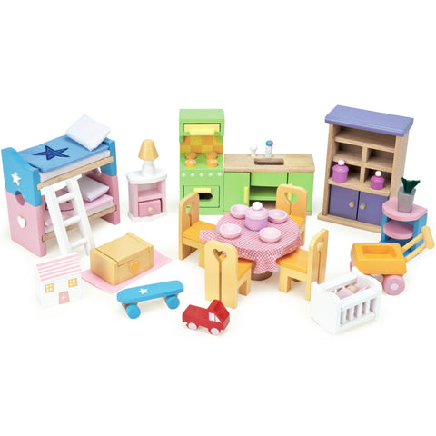 Le Toy Van Doll House Furniture Starter Set