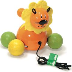 Villac Baby Gaston Lion Pull Toy made in France