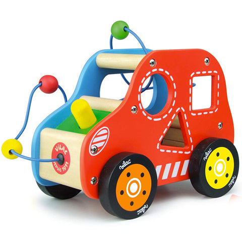 Villac Vroom Wooden Activity Car