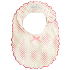 Alimrose Scallop Edge Bib, Cream
