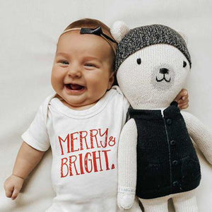 Baby graphic bodysuit | merry & bright finn + emma