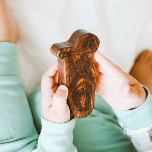 wood rattle teether [sloth]