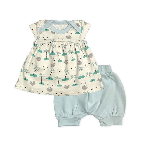 dress and bloomer set | beach palms