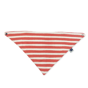 Baby lovie bib | red & white stripe Finn + Emma