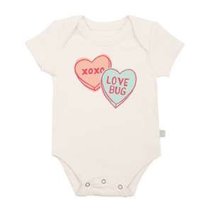 Baby graphic bodysuit | candy hearts finn + emma