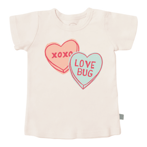 Baby graphic tee | candy hearts finn + emma