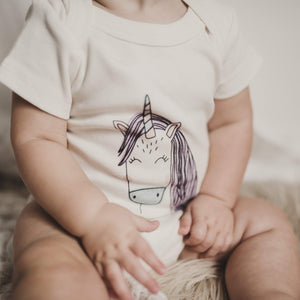 graphic bodysuit | unicorn