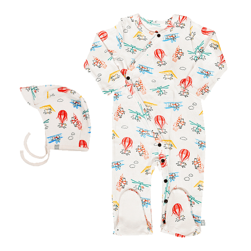 Baby gift set | flying pigs footie and hat finn + emma