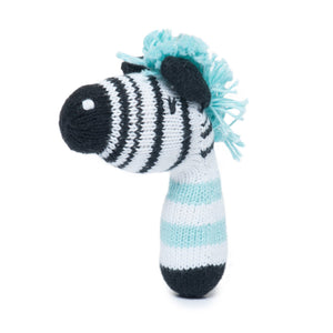 mini rattle | daisy the zebra