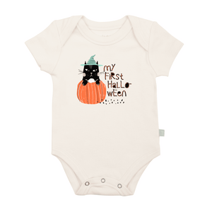 graphic bodysuit | my first halloween cat