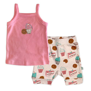 shorts and cami set | sweet treats