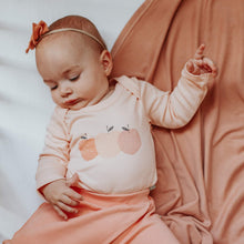 long sleeve bodysuit and pant set | peaches