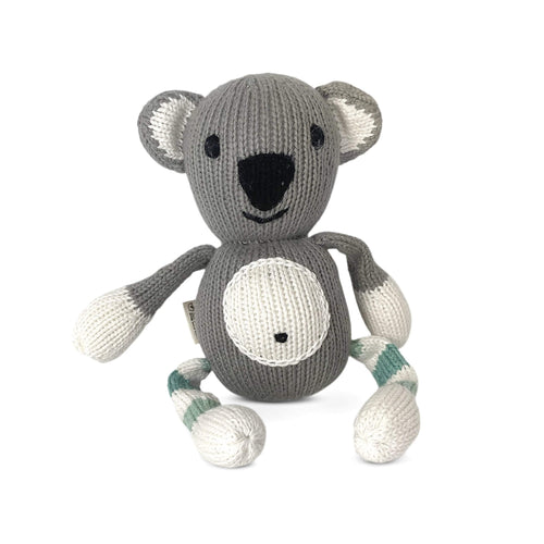 Baby rattle buddy | sawyer the koala finn + emma