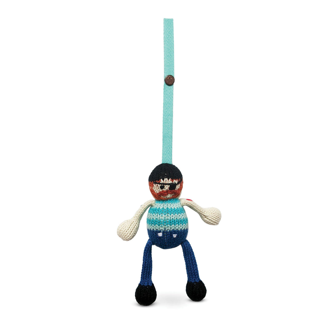 knit stroller toy | jack the sailor