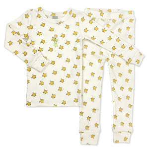 Baby pajamas | yellow stars & little prince finn + emma