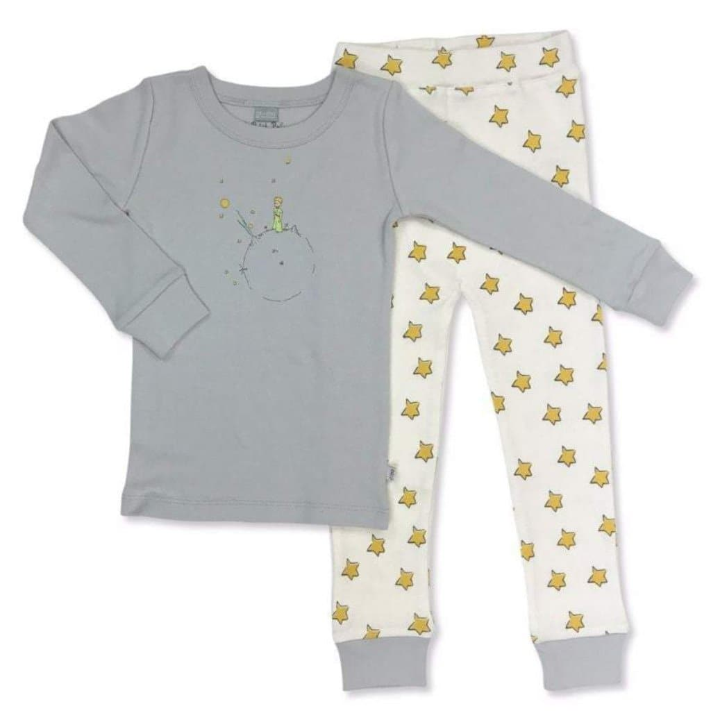 pajamas | grey & yellow stars