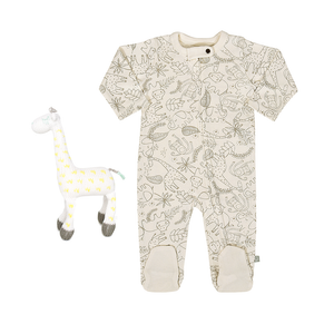 Baby gift set | Jungle Footie and Amelia Rattle Buddy finn + emma