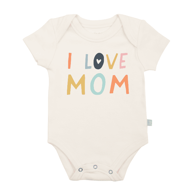 graphic bodysuit | love mom