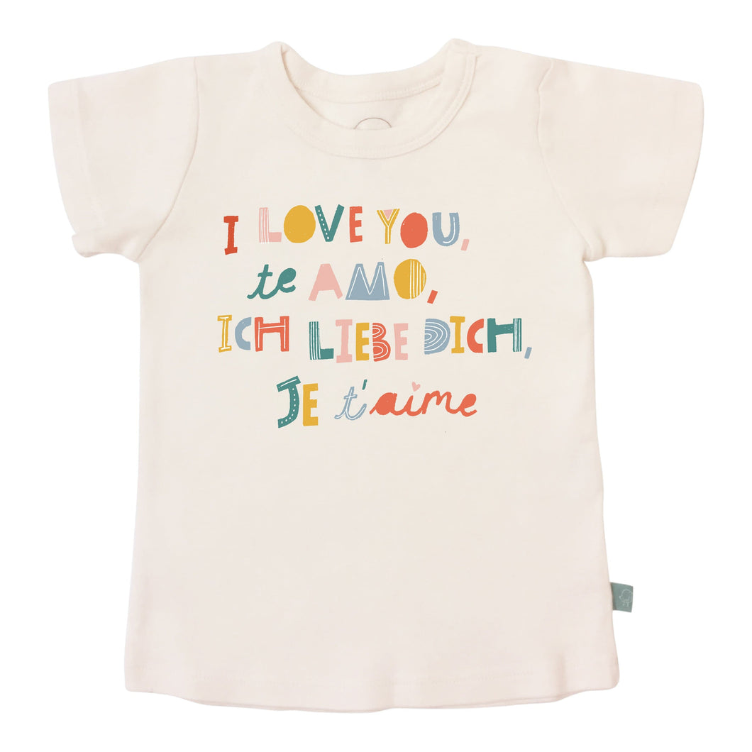 Baby graphic tee | i love you finn + emma