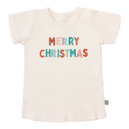 Baby graphic tee | merry christmas finn + emma