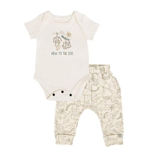 Baby gift set | Jungle Top and Cuffed Pant finn + emma