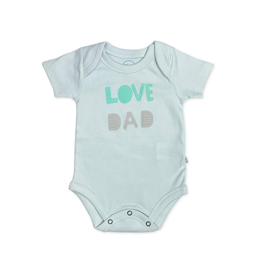 Baby graphic bodysuit | love dad blue finn + emma