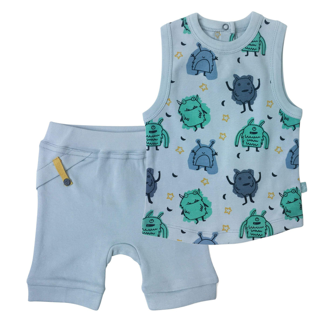 tank & short set | monsters