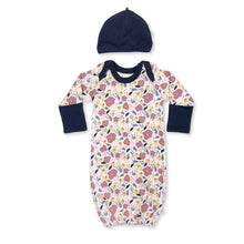 Baby gown | navy floral finn + emma