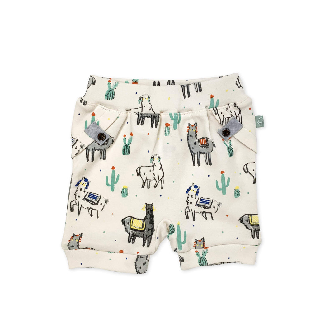 Baby pull-up shorts | llamas finn + emma