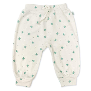 harem pants | dotted leaves