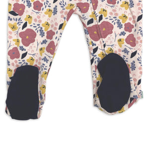 footie | navy floral
