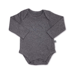 Baby basics long bodysuit | charcoal finn + emma