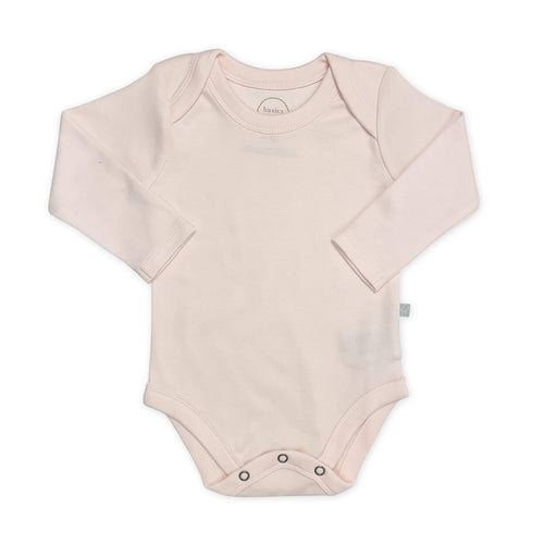 basics long bodysuit | pink