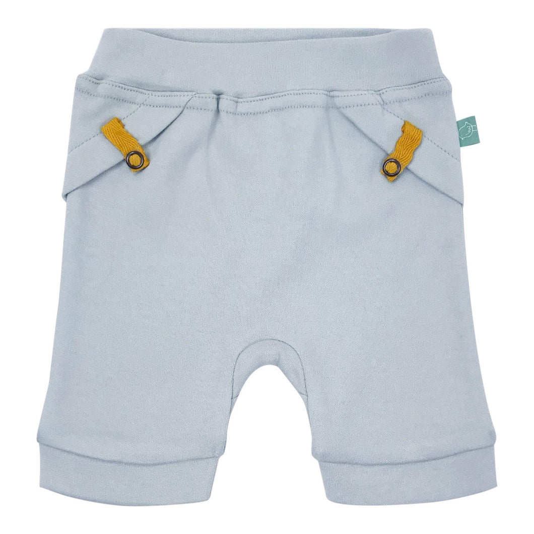 Baby pull-up shorts | ice flow blue finn + emma