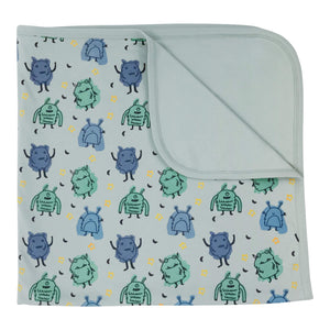 Baby reversible blanket | monsters finn + emma