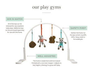 play gym | love mom & dad | white
