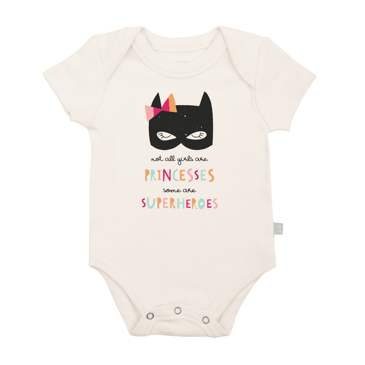 Baby graphic bodysuit | superhero princess finn + emma