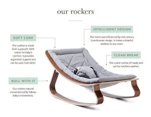 rocker | grey | walnut
