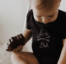 Baby wood rattle teether [mom & dad] finn + emma