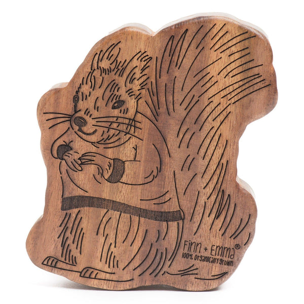 wood rattle teether [matilda the squirrel]