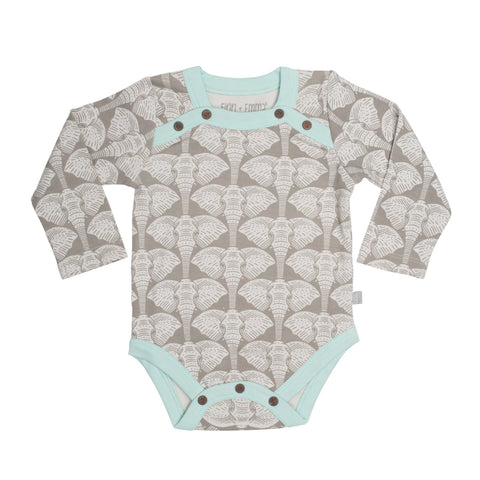 l/s bodysuit [elephants]