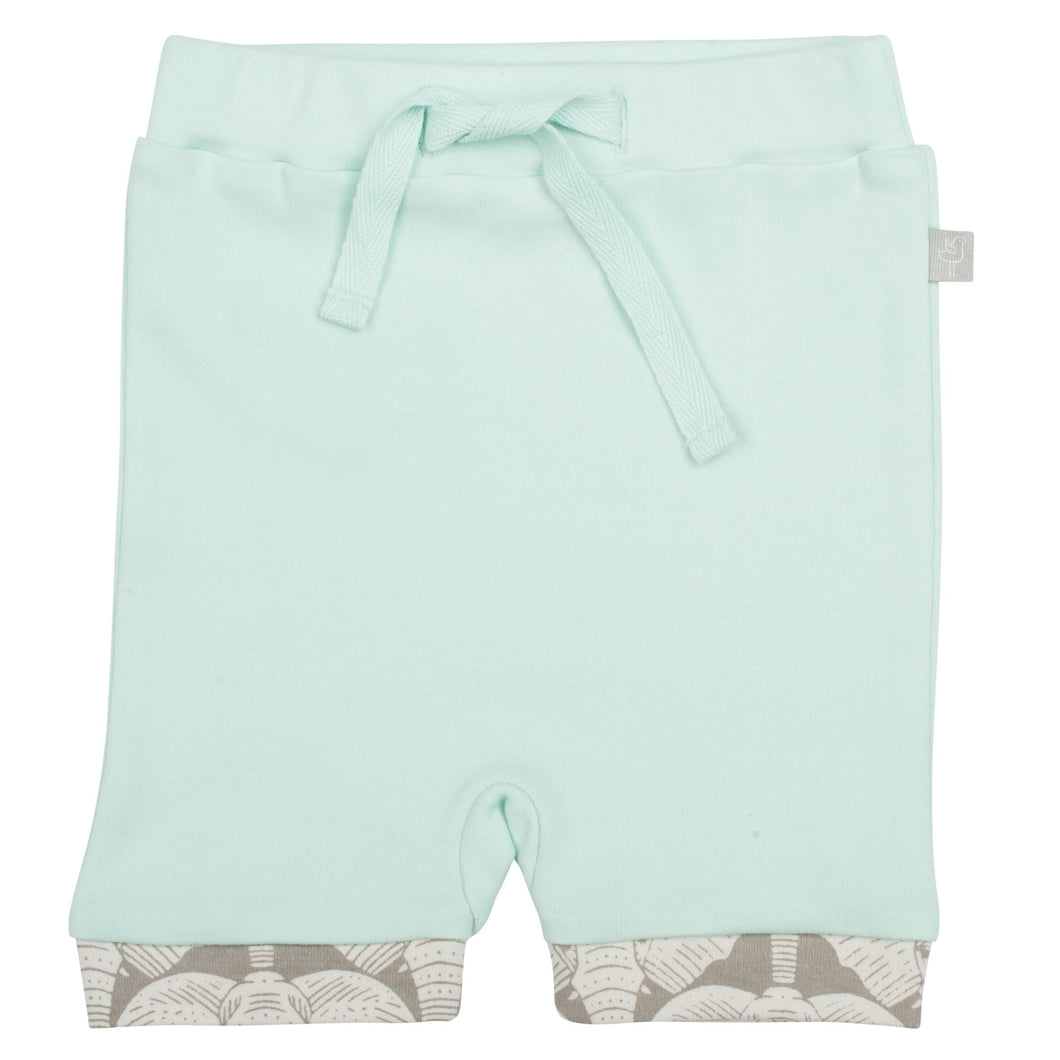 pull-up shorts | gossamer green