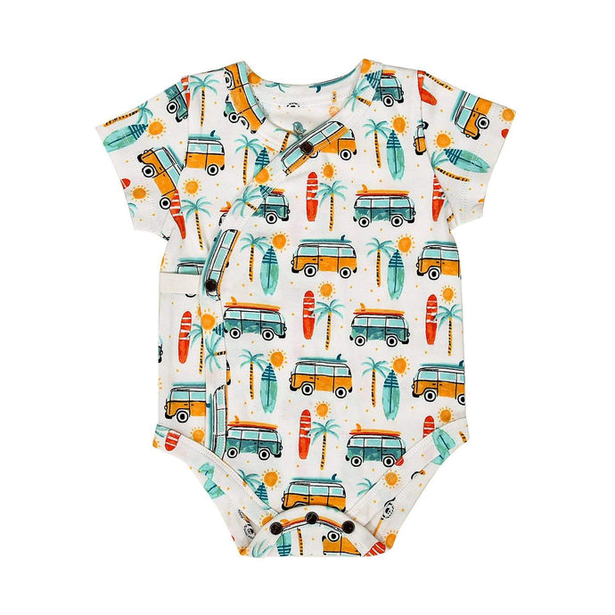 Baby short bodysuit | summer surf finn + emma