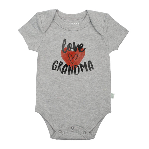 graphic bodysuit | love grandma heather