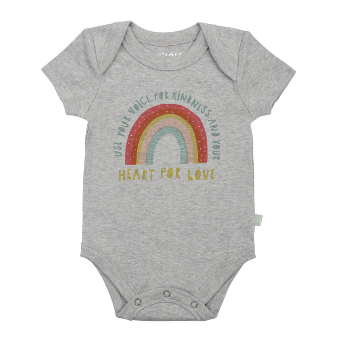 graphic bodysuit | rainbow heather