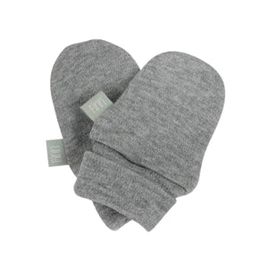 Baby mittens | heather gray Finn + Emma