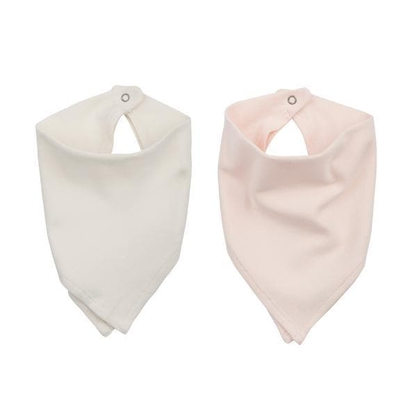 2 pc. bib set | off-white & pink