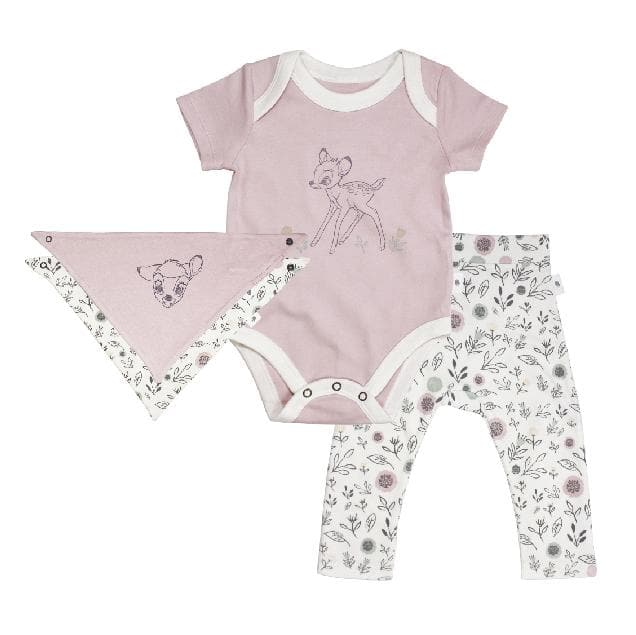 Baby 3 pc set | pink and floral finn + emma